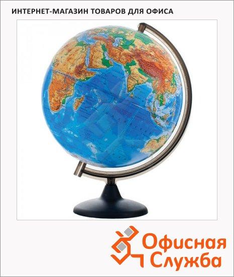 Глобус физический Глобусный Мир 32см, на круглой подставке, рельефный, 10196