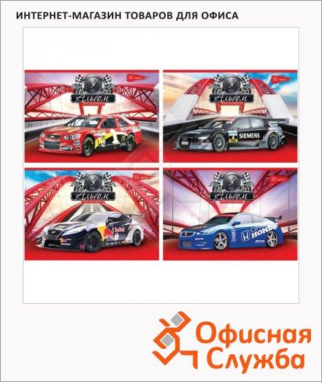 Альбом для рисования Bg Sport Car, А4, 100 г/м2, 32 листа, на скрепке