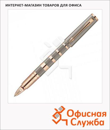 Ручка-5й пишущий узел Parker Ingenuity S Taupe & Metal PGT 0.3мм, черная