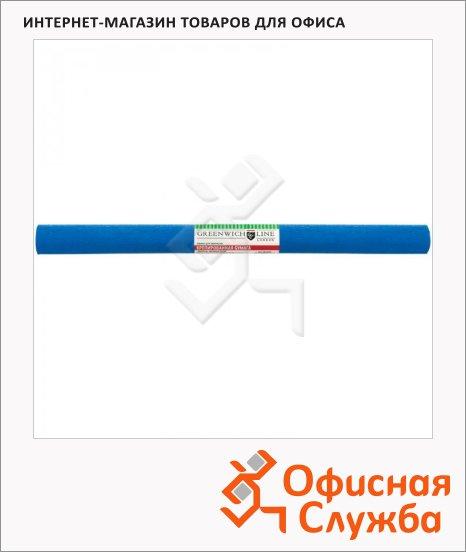 фото: Бумага крепированная Greenwich Line синяя 50х250см, 32 г/м2