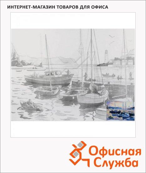 Холст грунтованный Невская Палитра 30х40см, 280 г/м2, хлопок, с контуром Гавань
