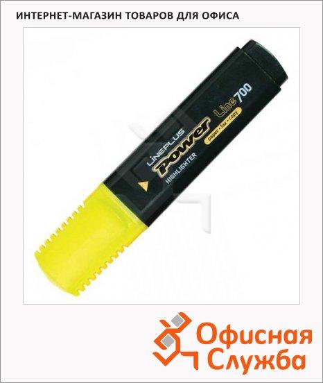 Текстовыделитель Line Plus HI-700C желтый, 1-5мм, скошенный наконечник