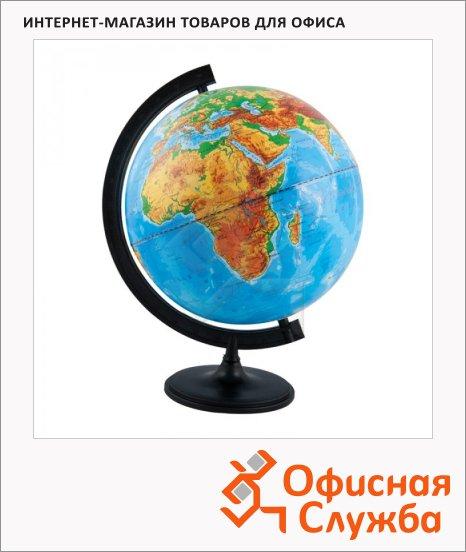 Глобус физический Глобусный Мир 32см, на круглой подставке, с подсветкой, 10014