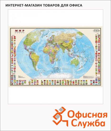 фото: Карта настенная Dmb Мир политическая М-1:40 000 000, 58х90см