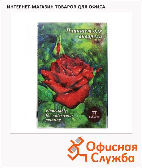 фото: Папка для акварели Palazzo Алая роза А4 20 листов, тиснение скорлупа, 200г/м2