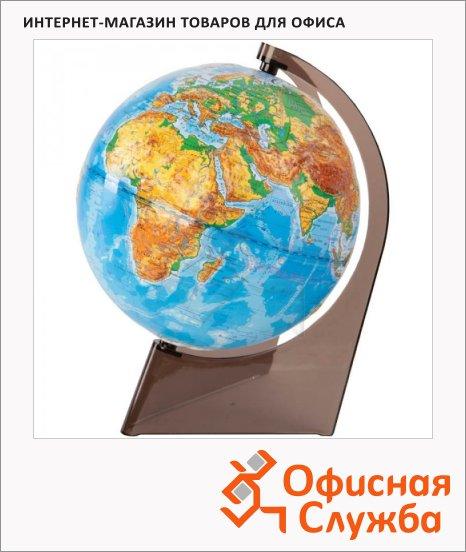 Глобус физический Глобусный Мир 21см, на треугольной подставке, рельефный, 10275