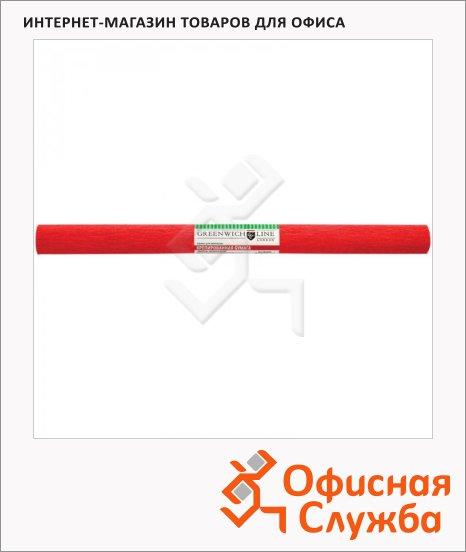 Бумага крепированная Greenwich Line красная, 50х250см, 32 г/м2