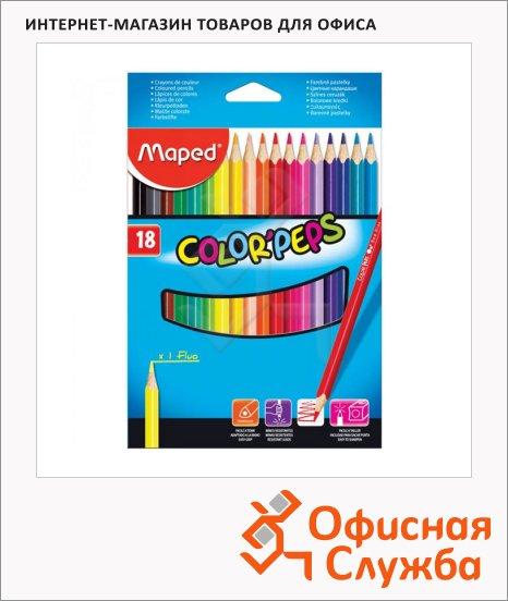 Набор цветных карандашей Maped Color'Peps 18 цветов, 183218