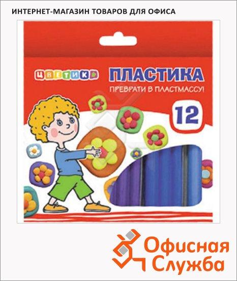 Набор пластики Невская Палитра Цветик 12 цветов, 240г