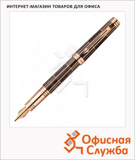 фото: Ручка перьевая Parker Premier Luxury F565 F темно-коричневый/розовый позолоченный корпус, 1876376