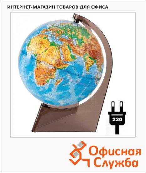 фото: Глобус физический Глобусный Мир 21см на треугольной подставке, с подстветкой, 10276