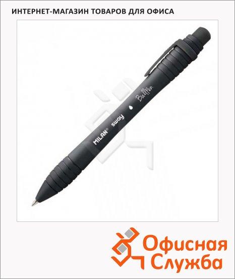 фото: Ручка шариковая автоматическая Milan Sway чёрная