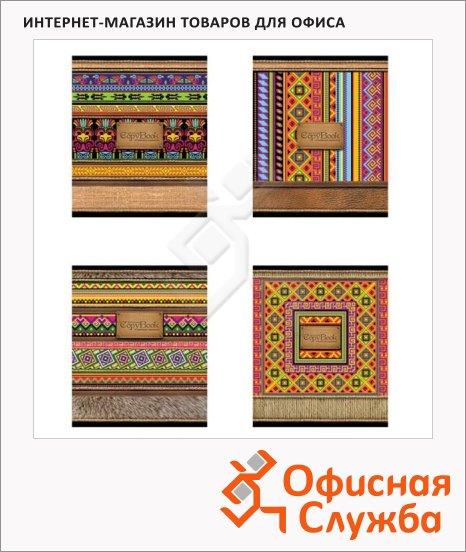 фото: Тетрадь общая Мексиканские мотивы A5, 48 листов, в клетку, на скрепке, мелованный картон/ лак