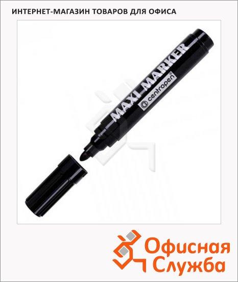 фото: Маркер перманентный Centropen Maxi черный 4мм, пулевидный наконечник