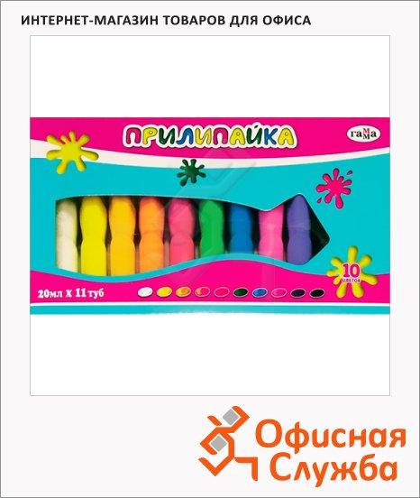 Краски витражные Гамма Прилипайка 11 цветов x 20мл