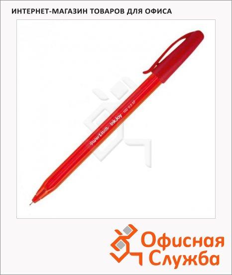 фото: Ручка шариковая Paper Mate InkJoy 100 Cap красная 1мм