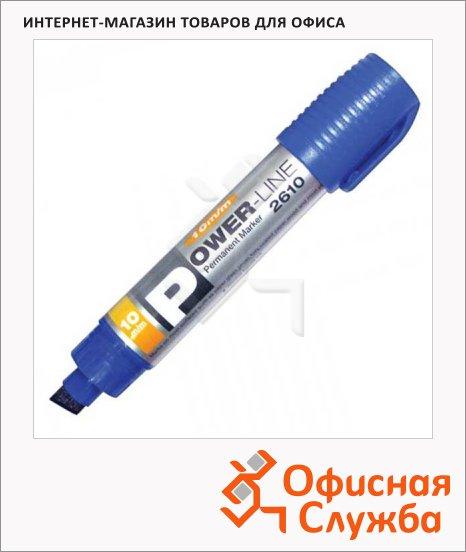 фото: Маркер перманентный Line Plus PER-2610 синий 10мм, скошенный наконечник