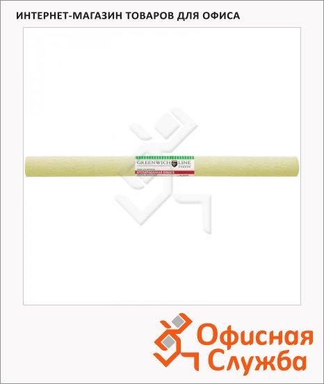 Бумага крепированная Greenwich Line шампань, 50х250см, 32 г/м2