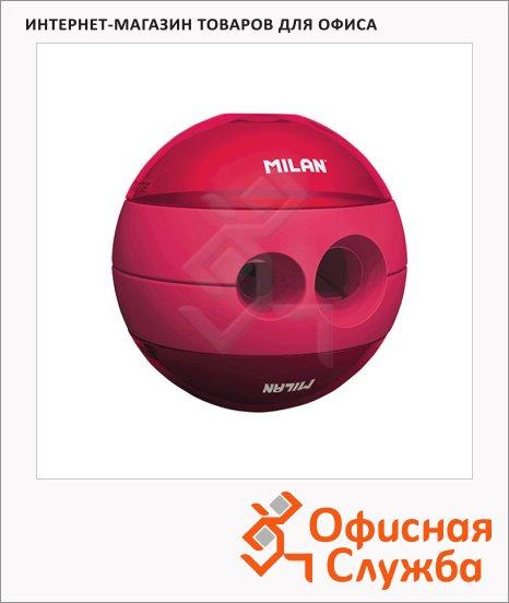 Точилка Milan Sphere 2 отверстия, с контейнером, ассорти