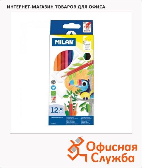 Набор цветных карандашей Milan 211 12 цветов