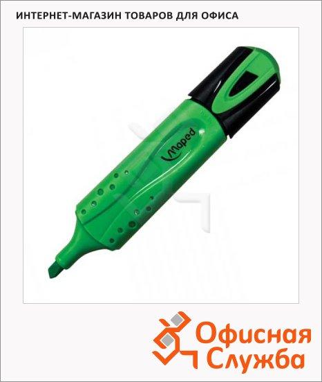 Текстовыделитель Maped Fluo Pep's Classic зеленый, 1-5мм, скошенный наконечник