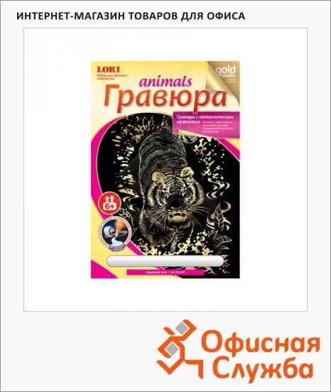 фото: Гравюра Lori Амурский тигр с эффектом золота