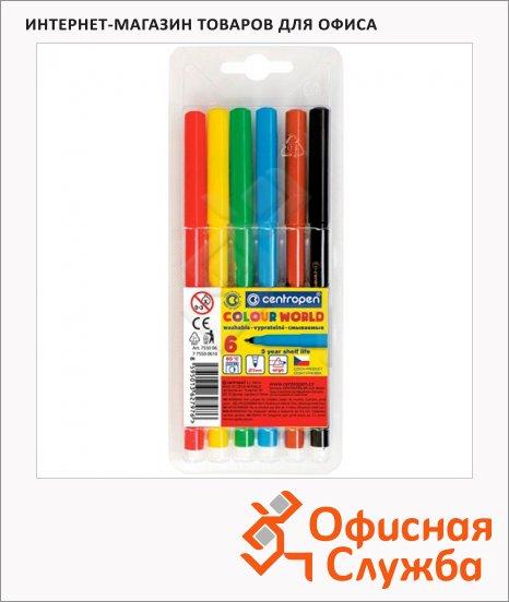 Фломастеры Centropen Colour World 6 цветов, смываемые