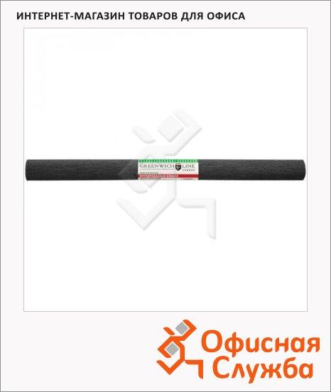 фото: Бумага крепированная Greenwich Line черная 50х250см, 32 г/м2