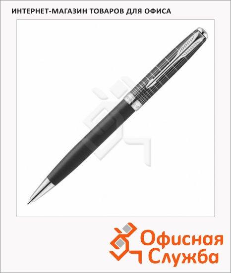 Ручка шариковая Parker Sonnet Contort Black Cisele 1мм, черная, корпус черный хром