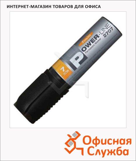 Маркер перманентный Line Plus PER-2707 чёрный, 7мм, скошенный наконечник