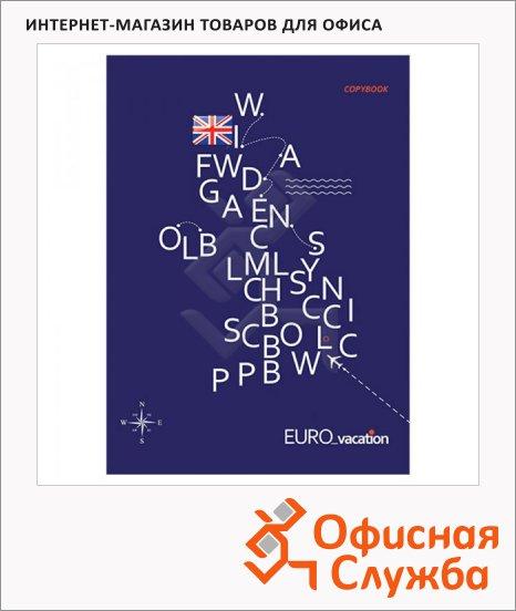фото: Тетрадь общая Европутешествие А5, 96 листов, в клетку, на скрепке, мелованный картон