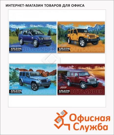 фото: Альбом для рисования Jeep А4, 100г/м2, 24 листа, на скрепке