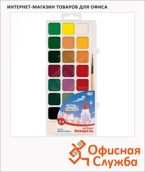 Акварель Гамма Чудо-краски 24 цвета, с кистью