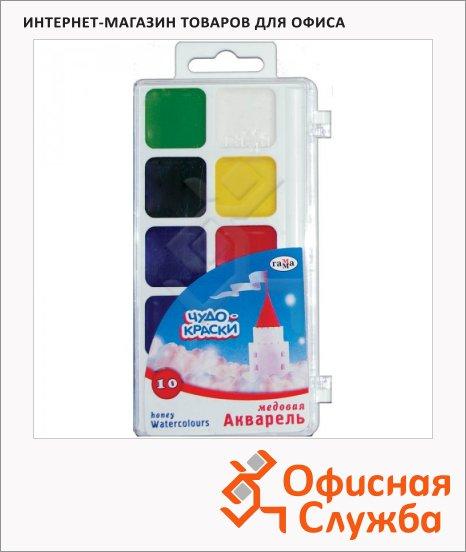 фото: Акварель Гамма Чудо-краски 10 цветов без кисти, медовая