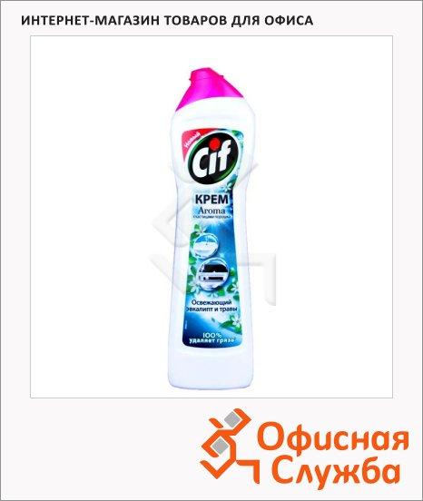 Универсальное чистящее средство Cif Aroma 500мл, крем, зеленая свежесть