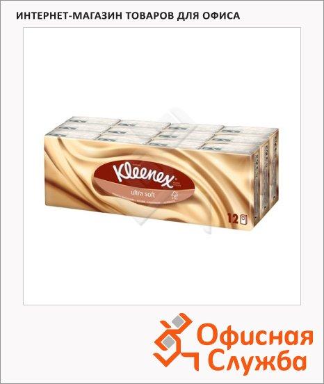 Носовые платки Kleenex Uitra Soft 12шт, 4 слоя