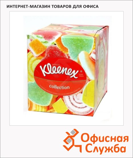 Салфетки косметические Kleenex Collection 100шт, 21.6х21.6, 2слоя, белые