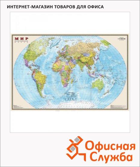 фото: Карта настенная Dmb Мир политическая М-1:15 000 000, 197х128см
