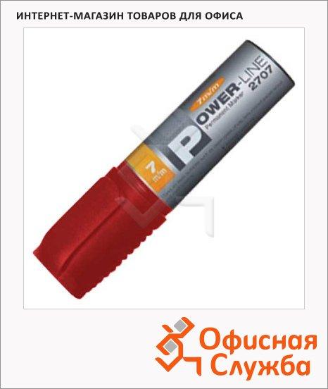 фото: Маркер перманентный Line Plus PER-2707 красный 7мм, скошенный наконечник