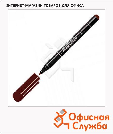 Маркер перманентный Centropen 2846 коричневый, 1мм, пулевидный наконечник