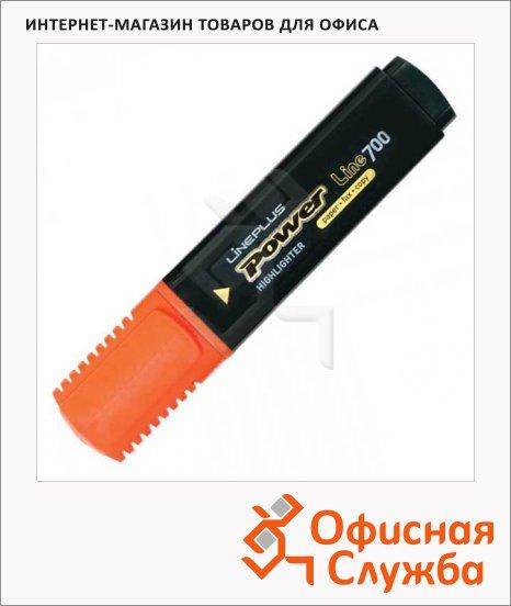 фото: Текстовыделитель Line Plus HI-700C оранжевый 1-5мм, скошенный наконечник
