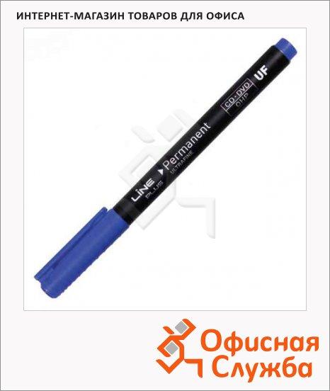 Маркер для CD перманентный Line Plus 2500UF синий, 0.6мм, игольчатый наконечник