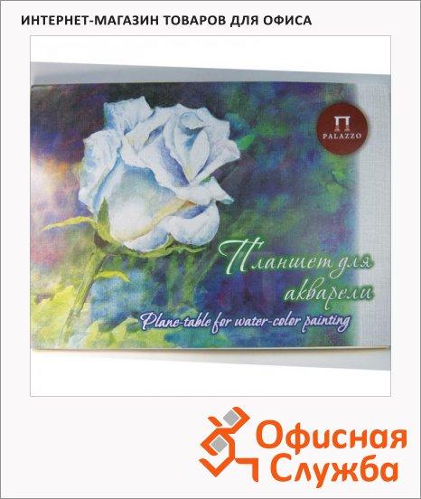 Папка для акварели Palazzo Белая роза А3, 260г/м2, 20 листов, тиснение лен, тонированная, палевая