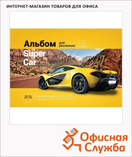Альбом для рисования Artspace Авто Top car, А4, 100г/м2, 40 листов, на спирали