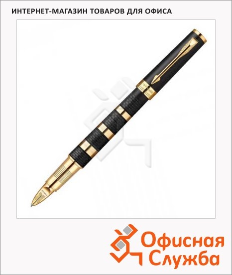 Ручка перьевая Parker Ingenuity L Black Ring & Metal GT 0.3мм, черная