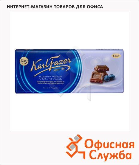 фото: Шоколад Fazer черничный йогурт 200г, молочный