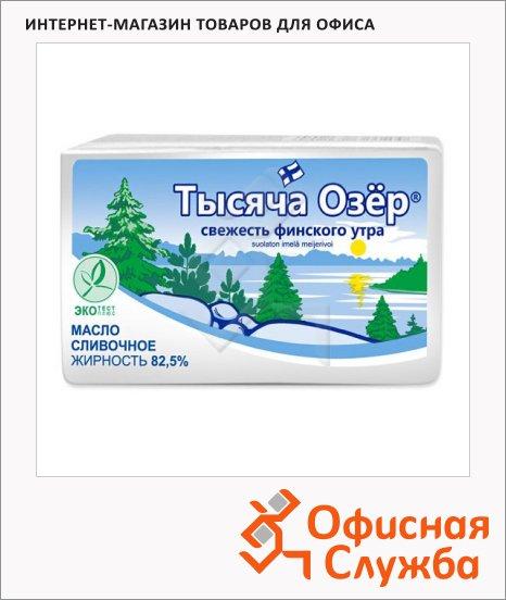 Масло сливочное Тысяча Озер 82.5%, несоленое, 180г