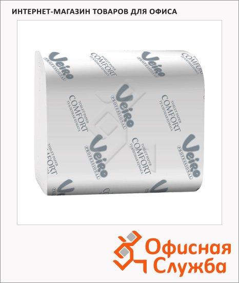 Туалетная бумага Veiro Professional Comfort ТV201, листовая, белая, 250 листов, 2 слоя, 21 х 10.8см