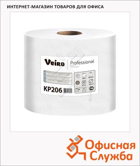 фото: Бумажные полотенца Comfort KP206 в рулоне с центральной вытяжкой, 200м, 2 слоя, белые
