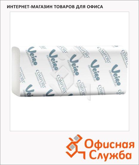 Бумажные полотенца Veiro Professional Comfort KV205, листовые, 200шт, 2 слоя, белые